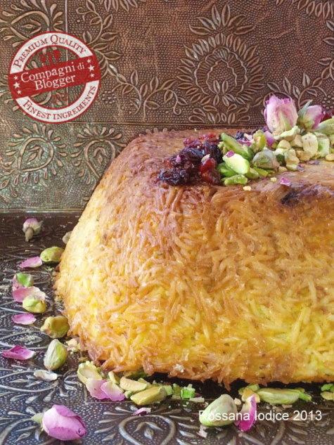 Tah chin-e barreh (Timballo persiano di riso ed agnello)