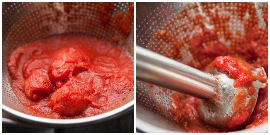 setacciare i pomodori