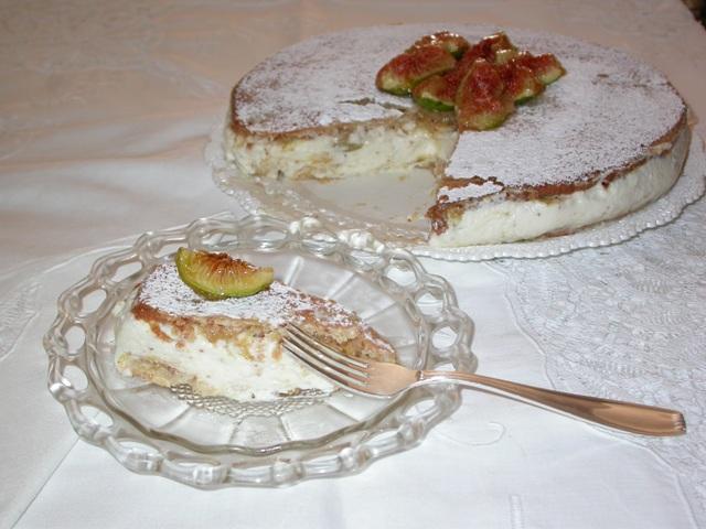 torta ricotta e fichi