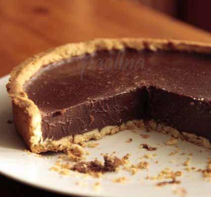 crostata alla ganache al cioccolato