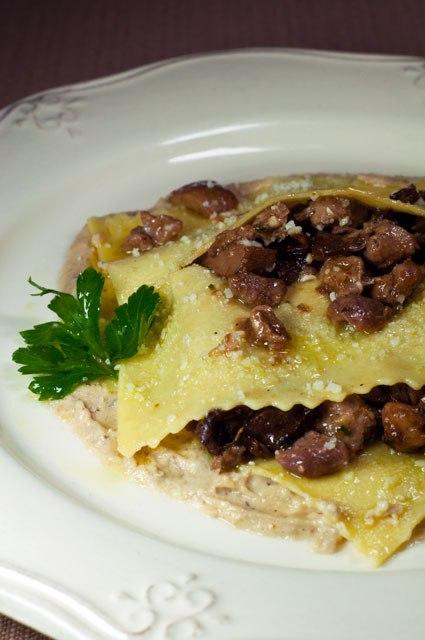 lasagnetta porcini e podolico