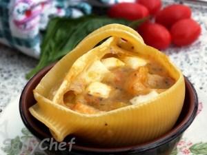 Caccavella patate e provola