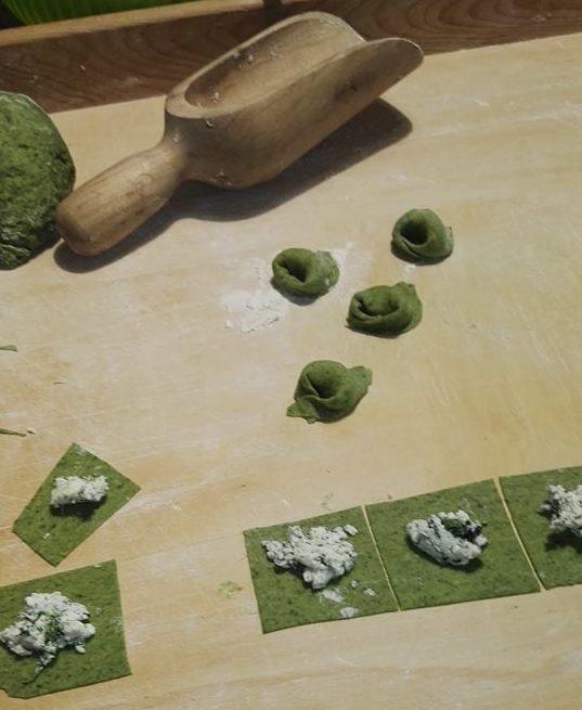 ricetta dei tortelloni verdi