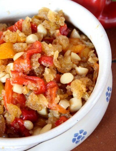 ricetta dei peperoni in agrodolce