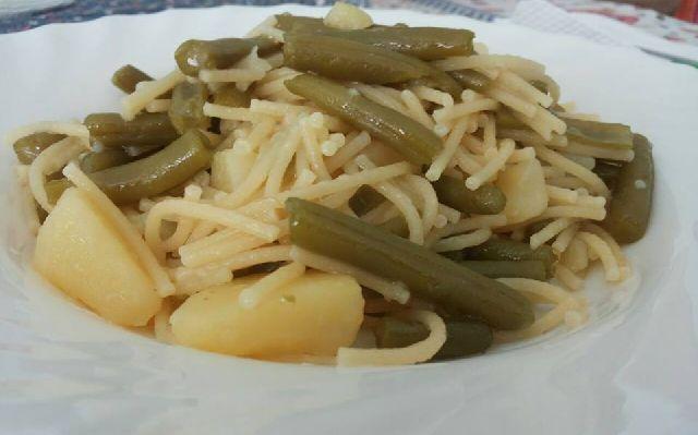 Spaghetti ai fagiolini e patate